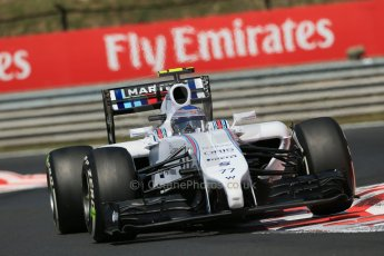 World © Octane Photographic Ltd. 2014 Friday 25th July 2014. Hungarian GP, Hungaroring - Budapest. Practice 2. Williams FW36 – Valtteri Bottas Digital Ref: 1057LB1D0521