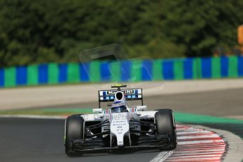 World © Octane Photographic Ltd. 2014 Saturday 26th July 2014. Hungarian GP, Hungaroring - Budapest. Practice 3. Williams FW36 – Valtteri Bottas Digital Ref: 1064LB1D1132