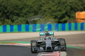 World © Octane Photographic Ltd. 2014 Saturday 26th July 2014. Hungarian GP, Hungaroring - Budapest. Practice 3. Mercedes AMG Petronas F1 W05 Hybrid - Nico Rosberg. Digital Ref: 1064LB1D1155