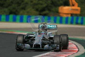 World © Octane Photographic Ltd. 2014 Saturday 26th July 2014. Hungarian GP, Hungaroring - Budapest. Practice 3. Mercedes AMG Petronas F1 W05 Hybrid - Nico Rosberg. Digital Ref: 1064LB1D1193