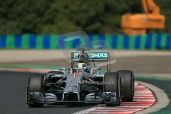 World © Octane Photographic Ltd. 2014 Saturday 26th July 2014. Hungarian GP, Hungaroring - Budapest. Practice 3. Mercedes AMG Petronas F1 W05 Hybrid – Lewis Hamilton. Digital Ref: 1064LB1D1249