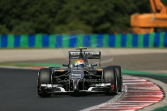 World © Octane Photographic Ltd. 2014 Saturday 26th July 2014. Hungarian GP, Hungaroring - Budapest. Practice 3. Sauber C33 - Esteban Gutierrez. Digital Ref: 1064LB1D1260