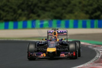 World © Octane Photographic Ltd. 2014. Saturday 26th July 2014. Hungarian GP, Hungaroring - Budapest. Practice 3. Infiniti Red Bull Racing RB10 - Sebastian Vettel. Digital Ref: 1064LB1D1364