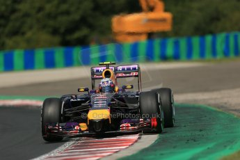 World © Octane Photographic Ltd. 2014 Saturday 26th July 2014. Hungarian GP, Hungaroring - Budapest. Practice 3. Infiniti Red Bull Racing RB10 – Daniel Ricciardo. Digital Ref: 1064LB1D1439