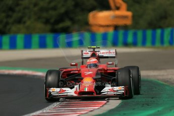 World © Octane Photographic Ltd. 2014 Saturday 26th July 2014. Hungarian GP, Hungaroring - Budapest. Practice 3. Scuderia Ferrari F14T – Kimi Raikkonen. Digital Ref: 1064LB1D1465