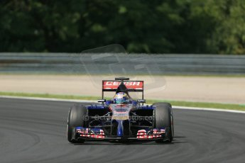 World © Octane Photographic Ltd. Saturday 26th July 2014. Hungarian GP, Hungaroring - Budapest. Practice 3. Scuderia Toro Rosso STR9 - Jean-Eric Vergne. Digital Ref:  1064LB1D1692
