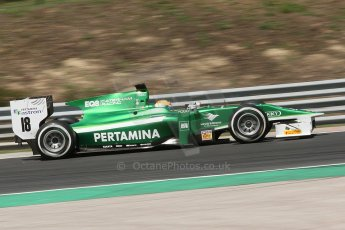 World © Octane Photographic Ltd. Friday 25th July 2014. GP2 Practice – Hungarian GP, Hungaroring - Budapest. Rio Haryanto - EQ8 Caterham Racing. Digital Ref :