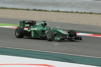 World © Octane Photographic Ltd. Tuesday 13th May 2014. Circuit de Catalunya - Spain - Formula 1 In-Season testing. Caterham F1 Team CT05 – Kamui Kobayashi. Digital Ref: