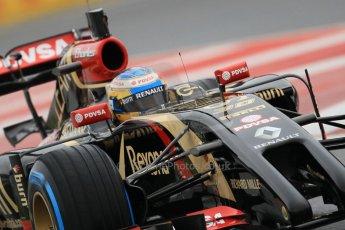 World © Octane Photographic Ltd. Tuesday 13th May 2014. Circuit de Catalunya - Spain - Formula 1 In-Season testing. Lotus F1 Team E22 – Charles Pic – Reserve Driver. Digital Ref: