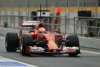 World © Octane Photographic Ltd. Tuesday 13th May 2014. Circuit de Catalunya - Spain - Formula 1 In-Season testing. Scuderia Ferrari F14T – Kimi Raikkonen. Digital Ref: