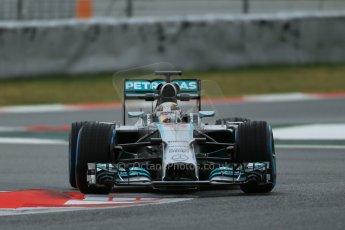 World © Octane Photographic Ltd. Tuesday 13th May 2014. Circuit de Catalunya - Spain - Formula 1 In-Season testing. Mercedes AMG Petronas F1 W05 Hybrid – Lewis Hamilton. Digital Ref: