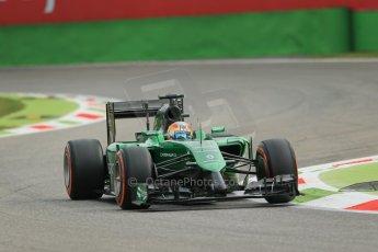 World © Octane Photographic Ltd. Friday 5th September 2014, Italian GP, Monza - Italy  - Formula 1 Practice 1. Caterham F1 Team CT05 – Roberto Merhi. Digital Ref: 1094LB1D3072