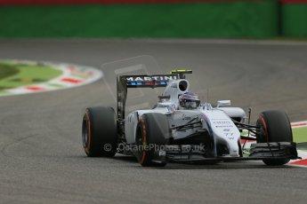 World © Octane Photographic Ltd. Friday 5th September 2014, Italian GP, Monza - Italy  - Formula 1 Practice 1. Williams Martini Racing FW36 – Valtteri Bottas. Digital Ref: 1094LB1D3174