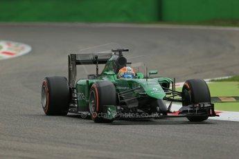 World © Octane Photographic Ltd. Friday 5th September 2014, Italian GP, Monza - Italy  - Formula 1 Practice 1. Caterham F1 Team CT05 – Roberto Merhi. Digital Ref: 1094LB1D3190