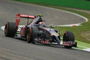World © Octane Photographic Ltd. Friday 5th September 2014, Italian GP, Monza - Italy  - Formula 1 Practice 1. Scuderia Toro Rosso STR 9 – Daniil Kvyat. Digital Ref: 1094LB1D3227