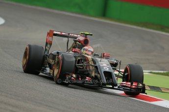World © Octane Photographic Ltd. Friday 5th September 2014, Italian GP, Monza - Italy  - Formula 1 Practice 1. Lotus F1 Team E22 – Pastor Maldonado. Digital Ref: 1094LB1D3297