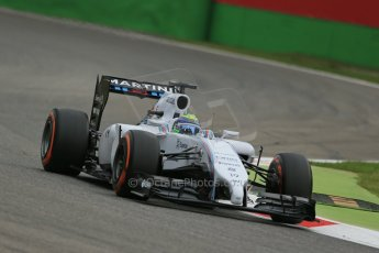 World © Octane Photographic Ltd. Friday 5th September 2014, Italian GP, Monza - Italy  - Formula 1 Practice 1. Williams Martini Racing FW36 – Felipe Massa. Digital Ref: 1094LB1D3302