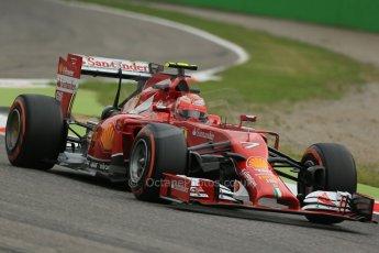 World © Octane Photographic Ltd. Friday 5th September 2014, Italian GP, Monza - Italy - Formula 1 Practice 1. Scuderia Ferrari F14T – Kimi Raikkonen. Digital Ref: 1094LB1D3323