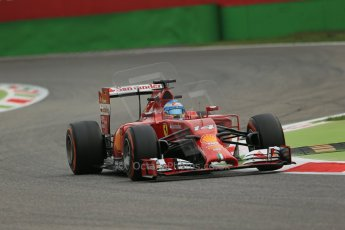 World © Octane Photographic Ltd. Friday 5th September 2014, Italian GP, Monza - Italy - Formula 1 Practice 1. Scuderia Ferrari F14T - Fernando Alonso. Digital Ref: 1094LB1D3405