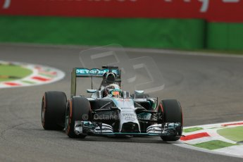World © Octane Photographic Ltd. Friday 5th September 2014, Italian GP, Monza - Italy - Formula 1 Practice 1. Mercedes AMG Petronas F1 W05 Hybrid – Lewis Hamilton. Digital Ref: 1094LB1D3468