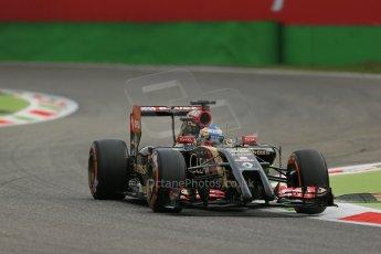 World © Octane Photographic Ltd. Friday 5th September 2014, Italian GP, Monza - Italy - Formula 1 Practice 1. Lotus F1 Team E22 - Charles Pic, Reserve driver. Digital Ref: 1094LB1D3494