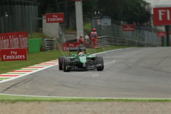 World © Octane Photographic Ltd. Friday 5th September 2014, Italian GP, Monza - Italy - Formula 1 Practice 1. Caterham F1 Team CT05 – Roberto Merhi. Digital Ref: 1094LB1D3602