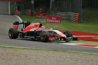 World © Octane Photographic Ltd. Friday 5th September 2014, Italian GP, Monza - Italy - Formula 1 Practice 1. Marussia F1 Team MR03 – Jules Bianchi. Digital Ref: 1094LB1D3805