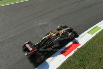 World © Octane Photographic Ltd. Saturday 6th September 2014, Italian GP, Monza - Italy. - Formula 1 Practice 3. Lotus F1 Team E22 – Pastor Maldonado. Digital Ref: 1100LB1D5158