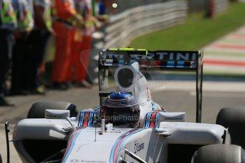 World © Octane Photographic Ltd. Saturday 6th September 2014, Italian GP, Monza - Italy. - Formula 1 Qualifying Parc Ferme. Williams Martini Racing FW36 – Valtteri Bottas. Digital Ref: 1106LB1D6217