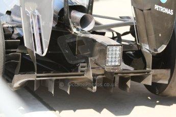World © Octane Photographic Ltd. Saturday 6th September 2014, Italian GP, Monza - Italy - Formula 1 Qualifying. Mercedes AMG Petronas F1 W05 Hybrid diffusor. Digital Ref: 1096CB7D0059