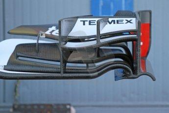 World © Octane Photographic Ltd. Sunday 7th September 2014, Italian GP, Monza - Italy  - Formula 1 Race Preparation. Sauber C33 front wing detail. Digital Ref : 1096CB7D0394