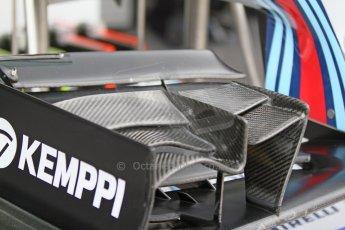 World © Octane Photographic Ltd. Friday 5th September 2014, Italian GP, Monza - Italy - Formula 1 Practice 1. Williams Martini Racing FW36 front wing. Digital Ref: 1096CB7D8837