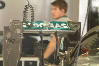 World © Octane Photographic Ltd. Friday 5th September 2014, Italian GP, Monza - Italy - Formula 1 Practice 1. Mercedes AMG Petronas F1 W05 Hybrid rear wing. Digital Ref: 1096CB7D8911