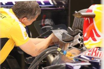 World © Octane Photographic Ltd. Friday 5th September 2014, Italian GP, Monza - Italy Formula 1 Practice 1. Infiniti Red Bull Racing RB10 Renault engineer at work. Digital Ref: 1096CB7D8938