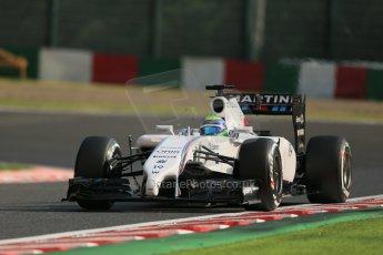 World © Octane Photographic Ltd. Friday 3rd October 2014, Japanese Grand Prix - Suzuka. - Formula 1 Practice 2. Williams Martini Racing FW36 – Felipe Massa. Digital Ref: