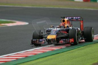World © Octane Photographic Ltd. Friday 3rd October 2014, Japanese Grand Prix - Suzuka. Formula 1 Practice 2. Infiniti Red Bull Racing RB10 - Sebastian Vettel. Digital Ref: