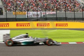 World © Octane Photographic Ltd. Saturday 4th October 2014, Japanese Grand Prix - Suzuka. - Formula 1 Qualifying. Mercedes AMG Petronas F1 W05 Hybrid – Lewis Hamilton. Digital Ref: