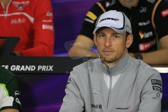 World © Octane Photographic Ltd. Thursday 2nd October 2014, Japanese Grand Prix - Suzuka. - Formula 1 Drivers' Press conference. McLaren Mercedes - Jenson Button. Digital Ref: 1131LB1D4173