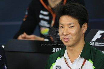 World © Octane Photographic Ltd. Thursday 2nd October 2014, Japanese Grand Prix - Suzuka. - Formula 1 Drivers' Press conference. Caterham F1 Team – Kamui Kobayashi. Digital Ref: 1131LB1D4468