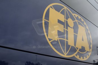 World © Octane Photographic Ltd. 2014 Formula 1 Winter Testing, Circuito de Velocidad, Jerez Winter testing set up day – Monday 27th January 2014. FIA logo. Digital Ref : 0879cb7d6995