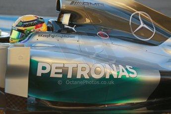 World © Octane Photographic Ltd. 2014 Formula 1 Winter Testing, Circuito de Velocidad, Jerez. Tuesday 28th January 2014. Day 1. Mercedes AMG Petronas F1 W05 – Lewis Hamilton. Digital Ref: 0882cb1d9302