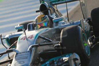 World © Octane Photographic Ltd. 2014 Formula 1 Winter Testing, Circuito de Velocidad, Jerez. Tuesday 28th January 2014. Day 1. Mercedes AMG Petronas F1 W05 – Lewis Hamilton. Digital Ref: 0882cb1d9351