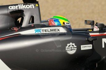 World © Octane Photographic Ltd. 2014 Formula 1 Winter Testing, Circuito de Velocidad, Jerez. Tuesday 28th January 2014. Day 1. Sauber C33 - Esteban Gutierrez. Digital Ref: 0882cb1d9480