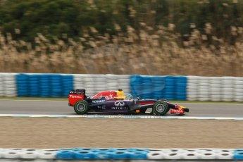 World © Octane Photographic Ltd. 2014 Formula 1 Winter Testing, Circuito de Velocidad, Jerez. Tuesday 28th January 2014. Day 1. Infiniti Red Bull Racing RB10 - Sebastian Vettel. Digital Ref: 0882cb1d9729