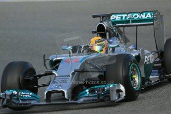World © Octane Photographic Ltd. 2014 Formula 1 Winter Testing, Circuito de Velocidad, Jerez. Tuesday 28th January 2014. Day 1. Mercedes AMG Petronas F1 W05 – Lewis Hamilton. Digital Ref: 0882lb1d0169