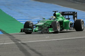 World © Octane Photographic Ltd. 2014 Formula 1 Winter Testing, Circuito de Velocidad, Jerez. Tuesday 28th January 2014. Day 1. Caterham F1 Team CT05 – Marcus Ericsson. Digital Ref: 0882lb1d0341