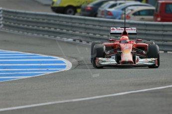 World © Octane Photographic Ltd. 2014 Formula 1 Winter Testing, Circuito de Velocidad, Jerez. Tuesday 28th January 2014. Day 1. Scuderia Ferrari F14T – Kimi Raikkonen. Digital Ref: 0882lb1d0361