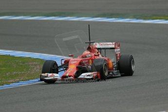 World © Octane Photographic Ltd. 2014 Formula 1 Winter Testing, Circuito de Velocidad, Jerez. Tuesday 28th January 2014. Day 1. Scuderia Ferrari F14T – Kimi Raikkonen. Digital Ref: 0882lb1d0434