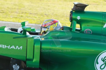World © Octane Photographic Ltd. 2014 Formula 1 Winter Testing, Circuito de Velocidad, Jerez. Thursday 30th January 2014. Day 3. Caterham F1 Team CT05 – Robin Frijns. Digital Ref: 0887cb1d0575