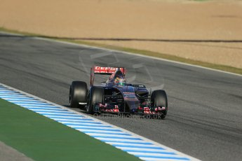 World © Octane Photographic Ltd. 2014 Formula 1 Winter Testing, Circuito de Velocidad, Jerez. Thursday 30th January 2014. Day 3. Scuderia Toro Rosso STR9 - Jean-Eric Vergne. Digital Ref: 0887lb1d2097